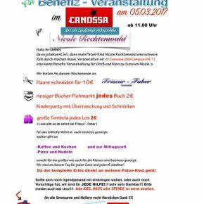 Erfolgreiche Benefiz-Veranstaltung im Canossa: rund 1800 € kamen zusammen