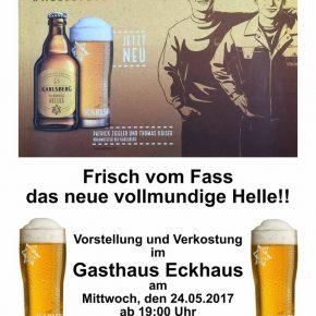 Einmalige Aktion der Karlsberg-Brauerei im Gasthaus Eckhaus!