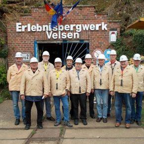 Die Altersabteilung der Freiwilligen Feuerwehr Dudweiler besuchten das Erlebnisbergwerk Velsen