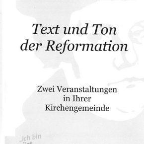 Text und Ton der Reformation-Reformation und Musik