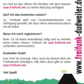 Neu: Freifunknetz in Dudweiler!