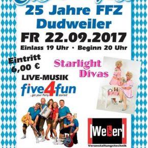 Die Oktoberfest-Party zum 25-jährigen Jubiläum des FFZ Dudweiler!