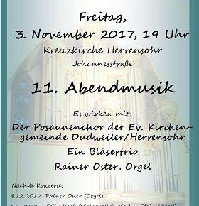 Zwei Termine der Ev. Kirchengemeinde Dudweiler/Herrensohr: Abendmusik und Ausstellung