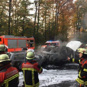 Auffahrunfall löste Kettenreaktion auf Autobahn A 623 Höhe Jägersfreude aus