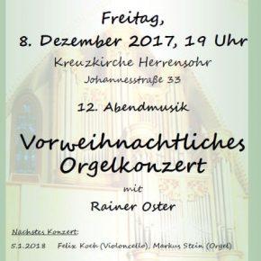 12. Abendmusik: Vorweihnachtliches Orgelkonzert