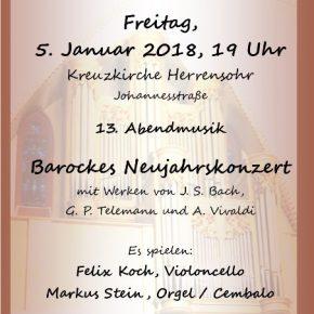 Barockes Neujahrskonzert in der Kreuzkirche Herrensohr