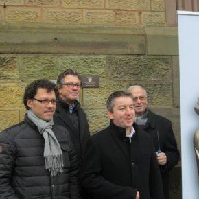 Christuskirche Dudweiler: Verleihung der Erinnerungsplakette der Deutschen Stiftung Denkmalschutz
