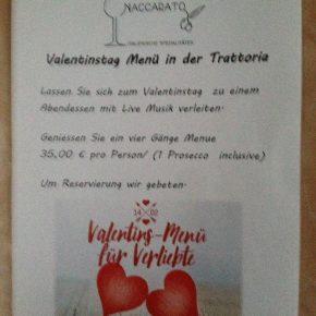 """""""Trattoria Naccarato"""": Valentinstag-Spezial"""