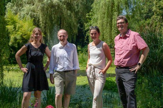 v.l.n.r.: Xenia Löckmann (Bündnis 90/Die Grünen), Karsten Schade (Bündnis 90/Die Grünen), Annabelle Sonntag (FDP), Ralf-Peter Fritz (CDU).