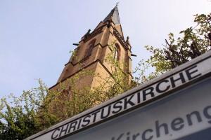 Die Christuskirche im Dudweiler Zentrum