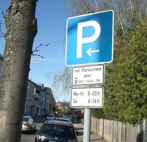 Altes Schild zum Handyparken in Dudweiler (Foto: Erwin Backes)