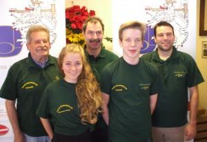 Das Team für Dudweiler: Reiner Klee, Hannah Maria Britz, Michael Haupenthal, Yannik Berens und Daniel Staub (Foto: Männerchor Harmonie)