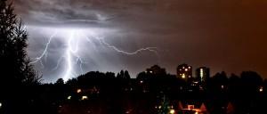 Gewitter über Dudweiler (Foto: Fabian Meyer | F.M. Photography)