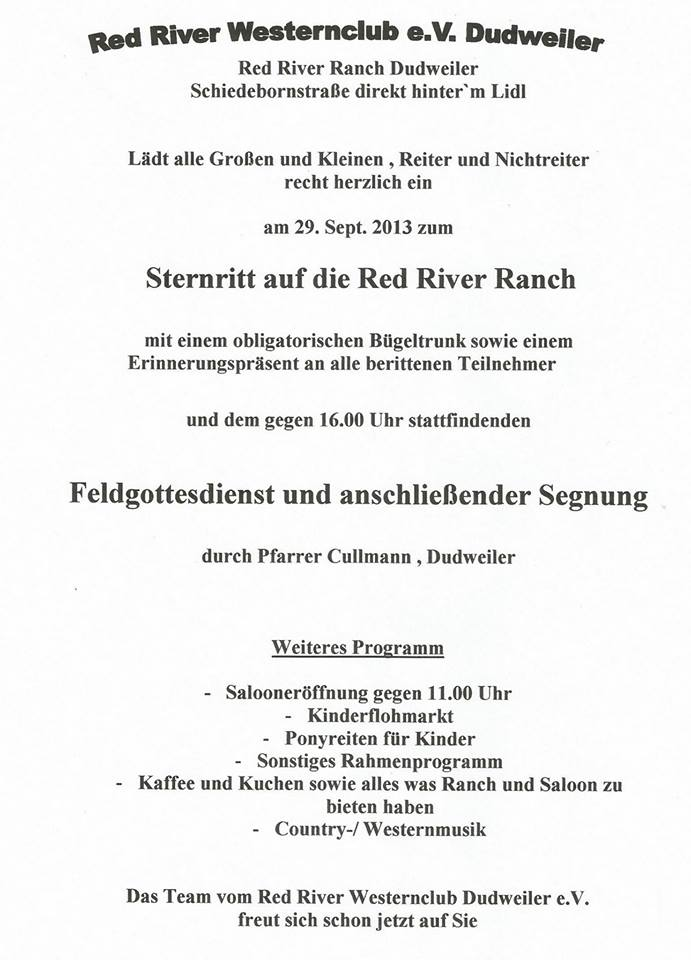 Red River Ranch Sternritt