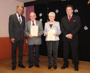 Von links nach rechts: Wolfgang Brückner, Günther Montag, Helga Thull, Jacky Fuhr (Foto: Verein)