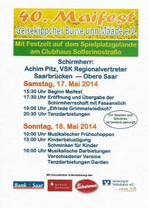 Maifest Geisekippcher Buwe unn Määde 2014