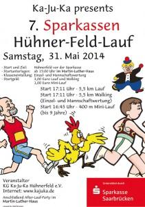 Plakat zum Hühnerfeldlauf 2014 (Plakat: Veranstalter)