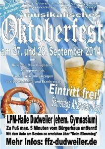 Plakat zum Oktoberfest (Foto: Verein)