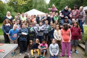 Teilnehmer beim Zeltlager (Foto: Pfarrei)