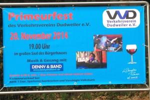 Banner zum Primeurfest (Foto: Verkehrsverein)