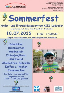 Eine Möglichkeit, das KIEZ kennzulernen: Das Sommerfest am 10. Juli.