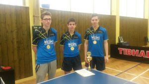 Foto:  (Verein/privat) Die drei Kreispokalsieger der DJK Dudweiler