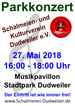 Plakat - SKVD Parkkonzert 2018