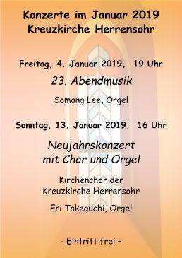 Kreuzkirche Januarkonzerte 2019