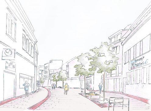 Gestaltungskonzept Dudweiler Fußgängerzone