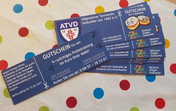 ATVD Rosenmontagsaktion - Gutscheine